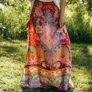 Forest Gypsy Maxi Skirt Lotus